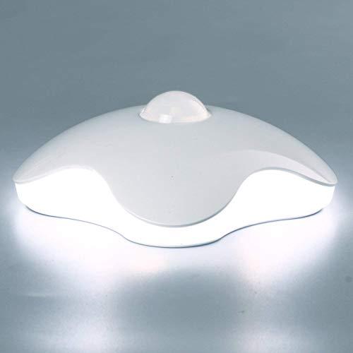 インテリアライト 室内人感センサー 柔らかい色 ナイトライト 夜トイレ玄関階段足元ライト (ホワイト)