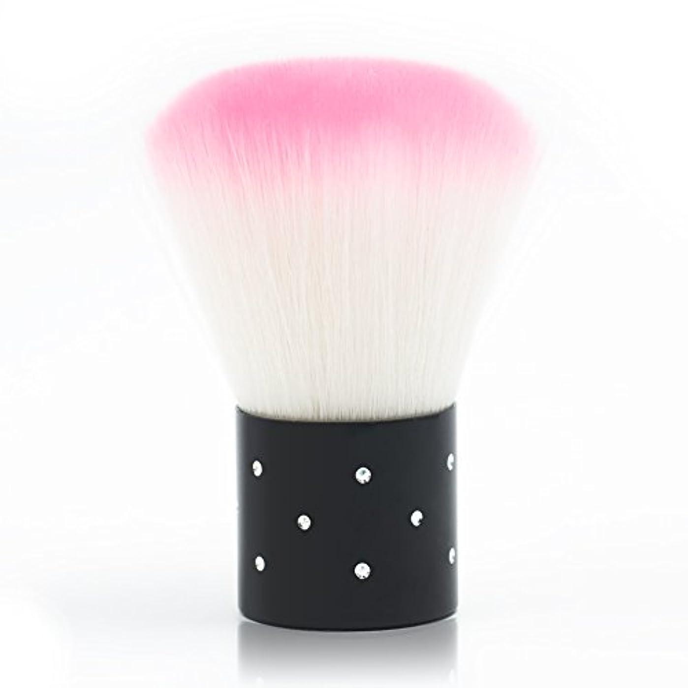 シャワーあいにく命令メーリンドス マニキュア&メイクツール しなやかピンクダストブラシ 可愛いケア刷毛工具