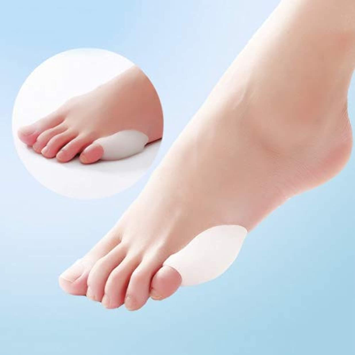 アラスカひも血色の良いLittle Toe Bunion Protector Pads Silicone Gel Foot Toe Separator Thumb Valgus Protector Bunion Adjuster Pain Relief...
