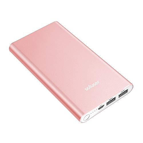 Soluser モバイルバッテリー 12000mAh 大容量充電器 軽量 携帯充電器 ポータブルバッテリー 2USB充電ポート UL/ROSH/PSE認証済 2台同時充電 パワーバンク スマホiPhone&Android等対応