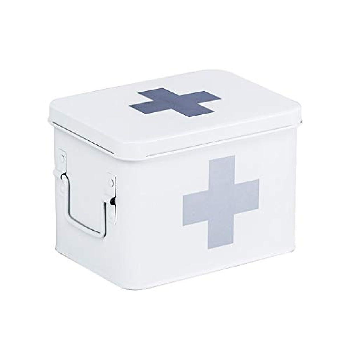 求める先見の明技術救急箱 薬箱の救急箱の薬の収納箱の家族の携帯用薬箱 Xuan - worth having (Color : White)