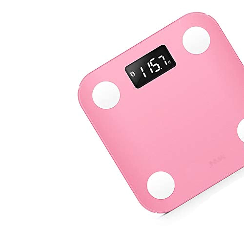 XF 体重計?体脂肪計 体脂肪計 - スマートブルートゥース体重計減量スケール健康スケールポータブル家庭用小さな大人家族女性寮 測定器 (色 : Pink)