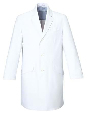 (ミズノ)MIZUNO ドクターコート【制電/制菌/透防止】医療白衣 男性用 MZ-0025 MZ0025 C-1 ホワイト 3L