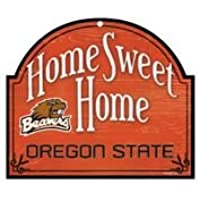 """Oregon State Beavers 10"""" x11"""" Wood """" Home Sweet Home """"アーチSign"""