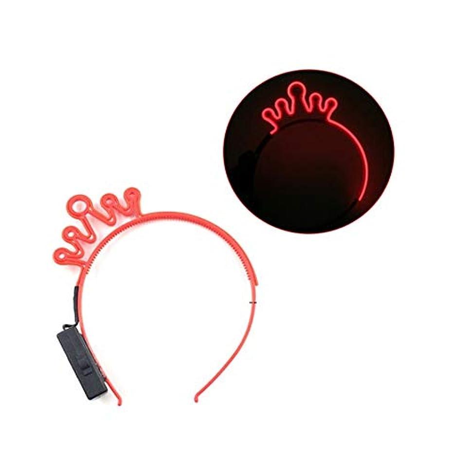 句一次開梱コールド光線ヘッドバンド猫耳クラウンユニコーンLEDの夜の光の髪ティアラの夜のショーは猫耳カチューシャの小道具 (スタイル : 3#)