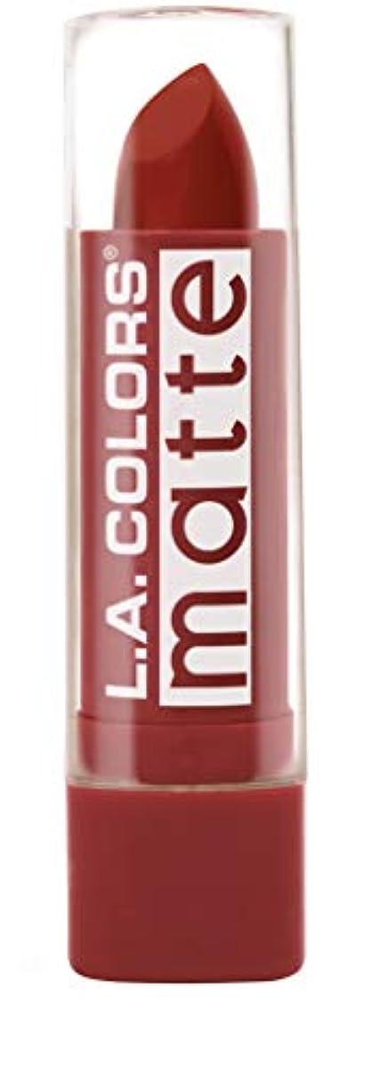 の抗議願望L.A. COLORS Matte Lip Color - Red Tango (並行輸入品)