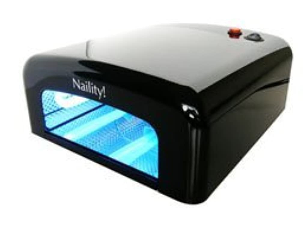 スキャンダラス見てドア【ジェルネイル】Naility! UVライト 36W /Black <硬化が早い!ペディにも!>