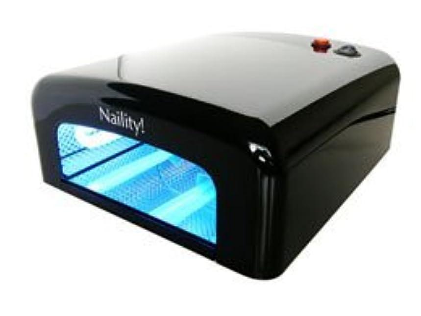 市の中心部技術学生【ジェルネイル】Naility! UVライト 36W /Black <硬化が早い!ペディにも!>