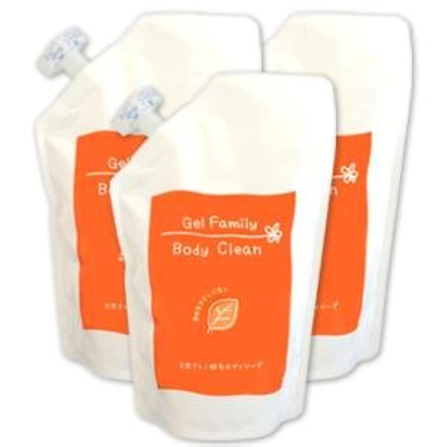 是正肥料アーチPiNatural ゲルファミリーボディクリーン 詰替用500ml×3個セット(天然アミノ酸ボディソープ)