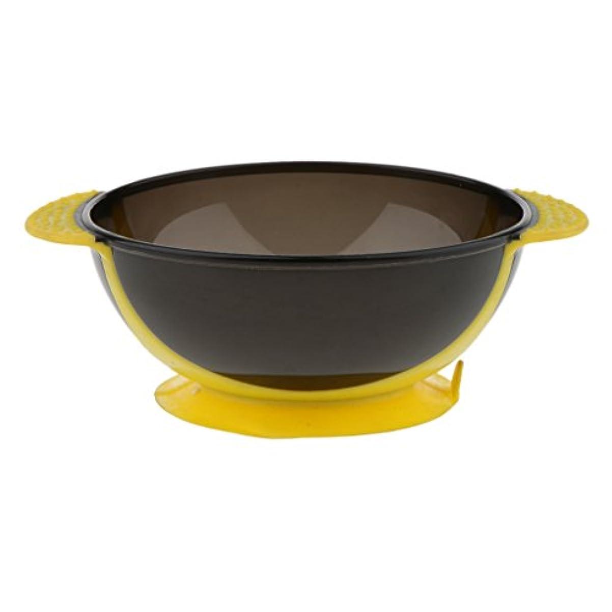 法的フォーマル導入するToygogo ヘアカラー ミキシングボウル ヘアダイボウル 染料 色合い 髪染めミント 吸引ベース 3色選べる - 黄