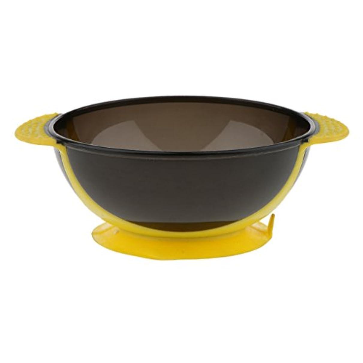 広範囲に流行どう?Toygogo ヘアカラー ミキシングボウル ヘアダイボウル 染料 色合い 髪染めミント 吸引ベース 3色選べる - 黄