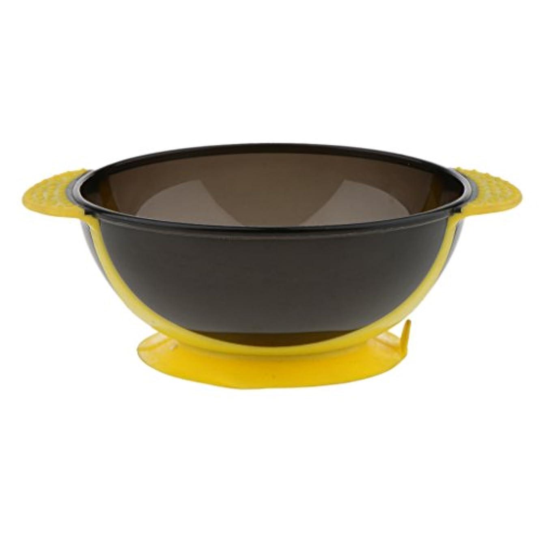 ほうきキモい悪行Toygogo ヘアカラー ミキシングボウル ヘアダイボウル 染料 色合い 髪染めミント 吸引ベース 3色選べる - 黄