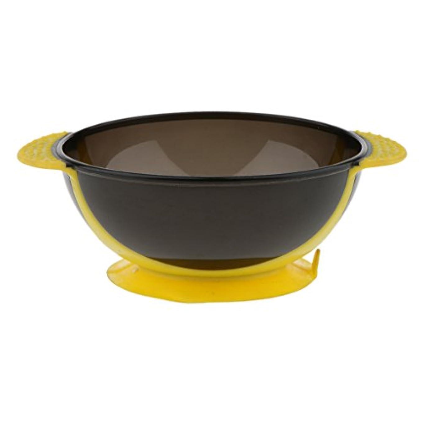 リットルシャベル回転するToygogo ヘアカラー ミキシングボウル ヘアダイボウル 染料 色合い 髪染めミント 吸引ベース 3色選べる - 黄