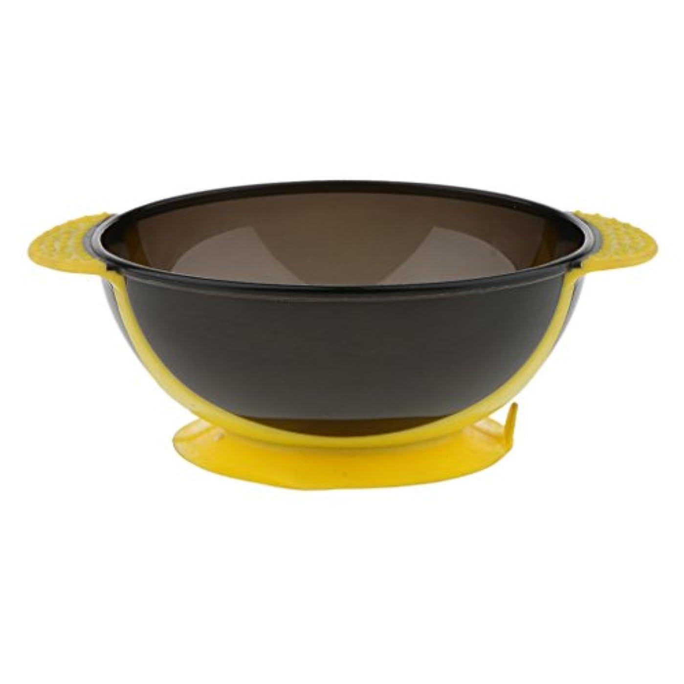 割れ目抑圧者主張Toygogo ヘアカラー ミキシングボウル ヘアダイボウル 染料 色合い 髪染めミント 吸引ベース 3色選べる - 黄