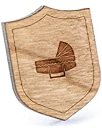Bassinetラペルピン、木製ピンとタイタック|素朴な、ミニマルGroomsmenギフト、ウェディングアクセサリー