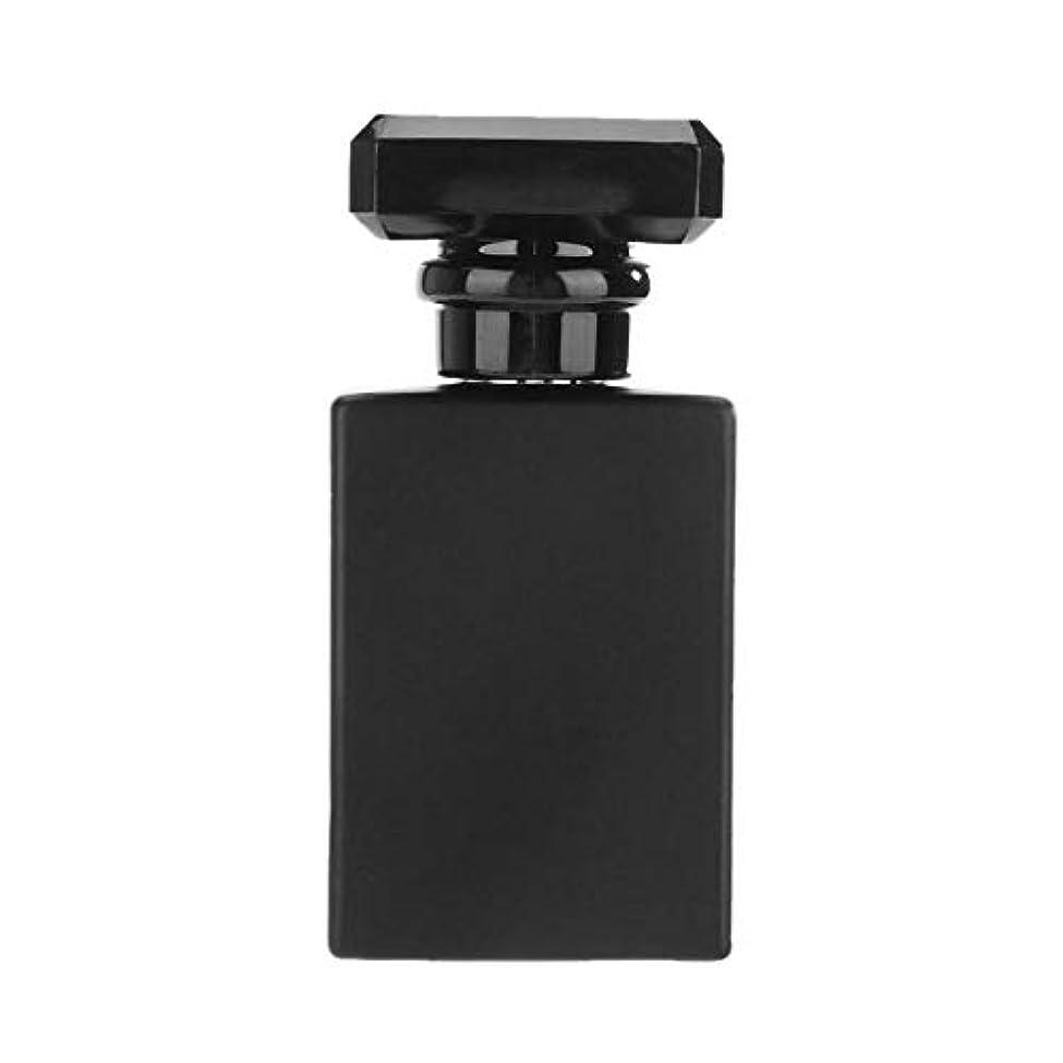 敗北楽観ラケット30ml空のガラス香水瓶旅行サイズ(ブラック)