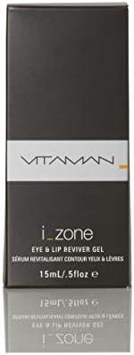 VITAMAN i-Zone Eye and Lip Reviver Gel for Men & Women, 15 ml