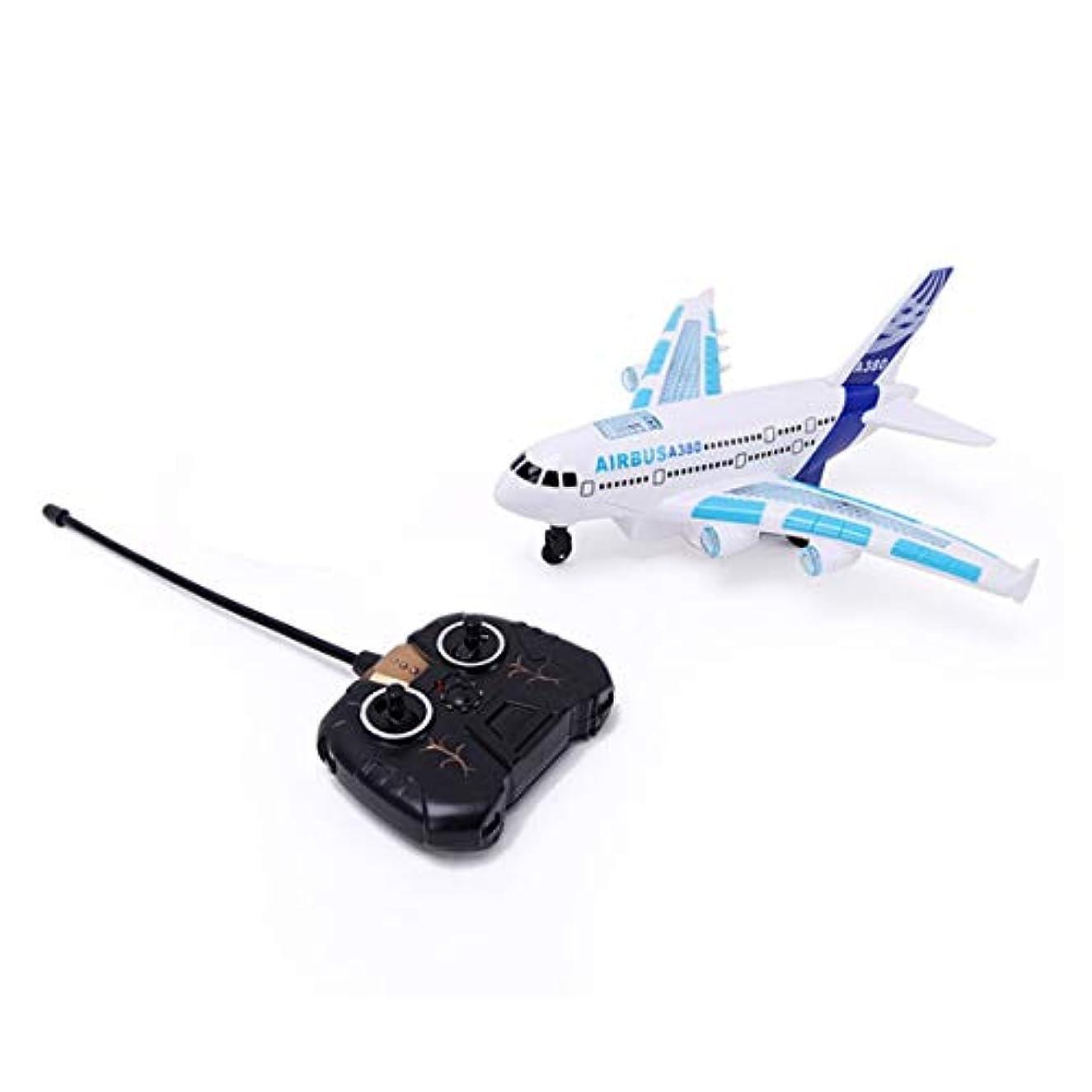 トーン線形求めるA380リモートコントロール航空機ボーイズエアバスおもちゃ飛行機モデルカラフルなライト音楽電動飛行機早期教育おもちゃ