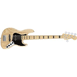Fender フェンダー エレキベース AM ELITE JAZ BAS V ASH MN NAT