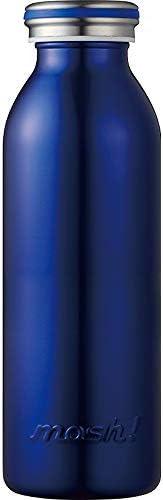水筒 真空断熱 スクリュー式 マグ ボトル 0.45L ネイビー mosh! (モッシュ! ) DMMB450NV