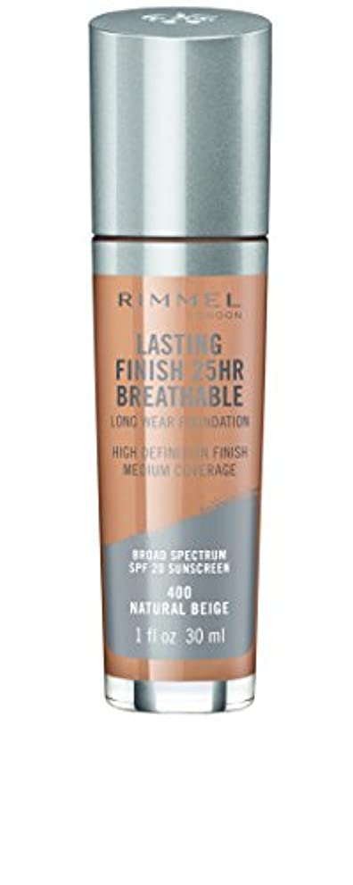 北米襲撃ばかRIMMEL LONDON Lasting Finish 25hr Breathable Foundation - Natural Beige (並行輸入品)