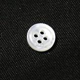 白蝶貝ボタン 9mm[30個セット] 天然貝ワイシャツボタンに