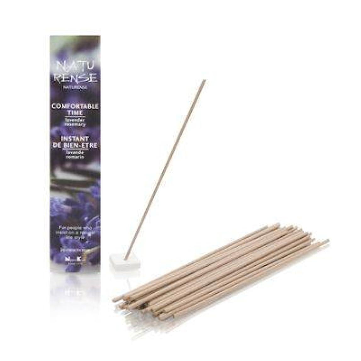 タイプ教科書台風Naturense快適な時間40 Insence Sticks withホルダーラベンダー/ローズマリー