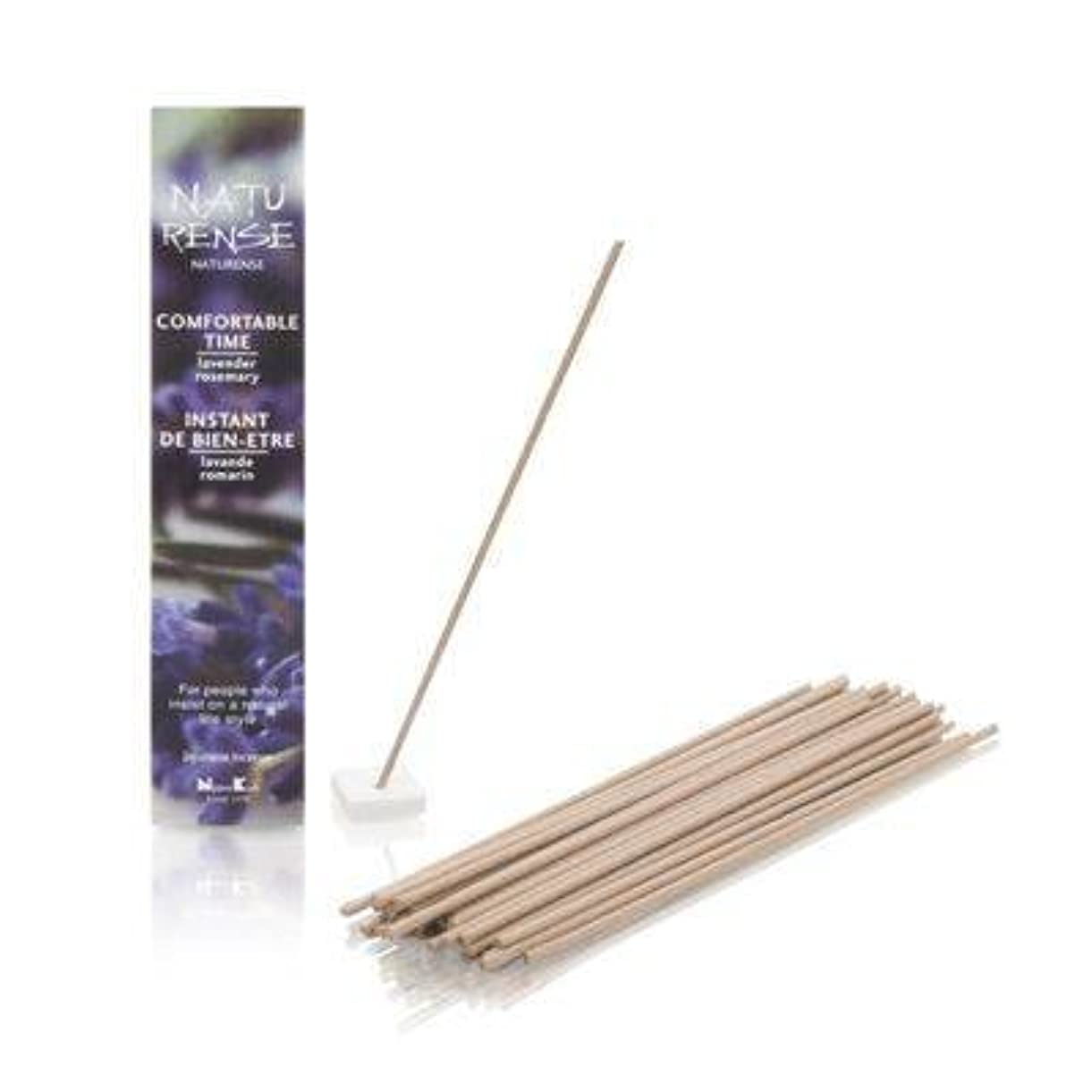 安定した発明眠いですNaturense快適な時間40 Insence Sticks withホルダーラベンダー/ローズマリー