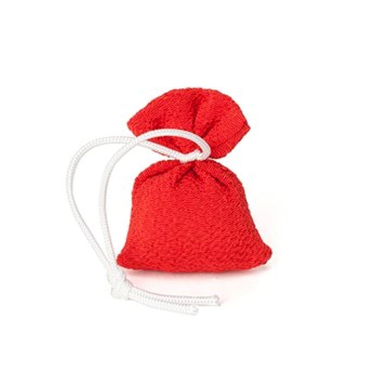 松栄堂 匂い袋 誰が袖 携帯用 1個入 ケースなし (色をお選びください) (赤)