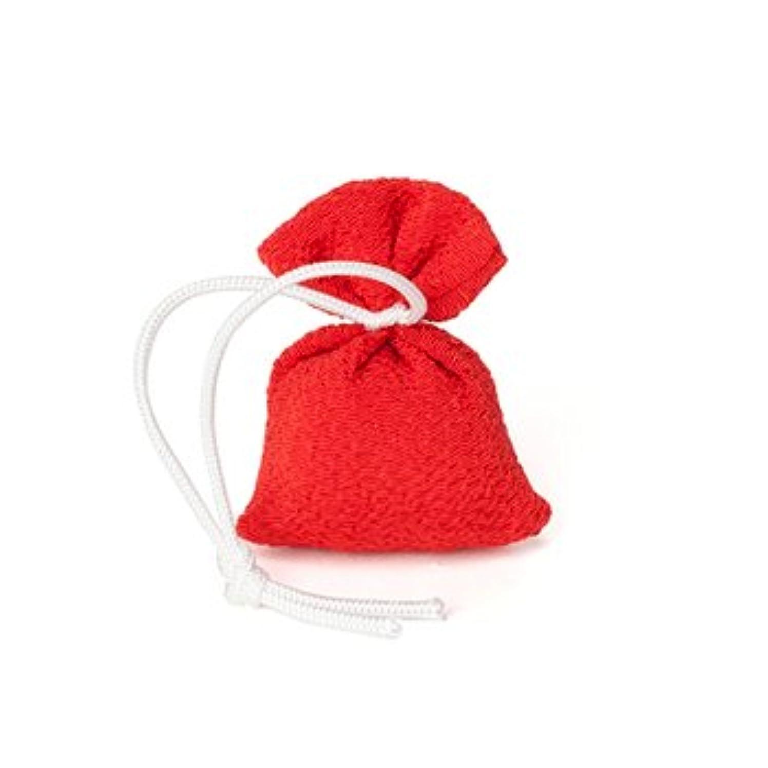 バランスのとれたヒョウリーガン松栄堂 匂い袋 誰が袖 携帯用 1個入 ケースなし (色をお選びください) (赤)