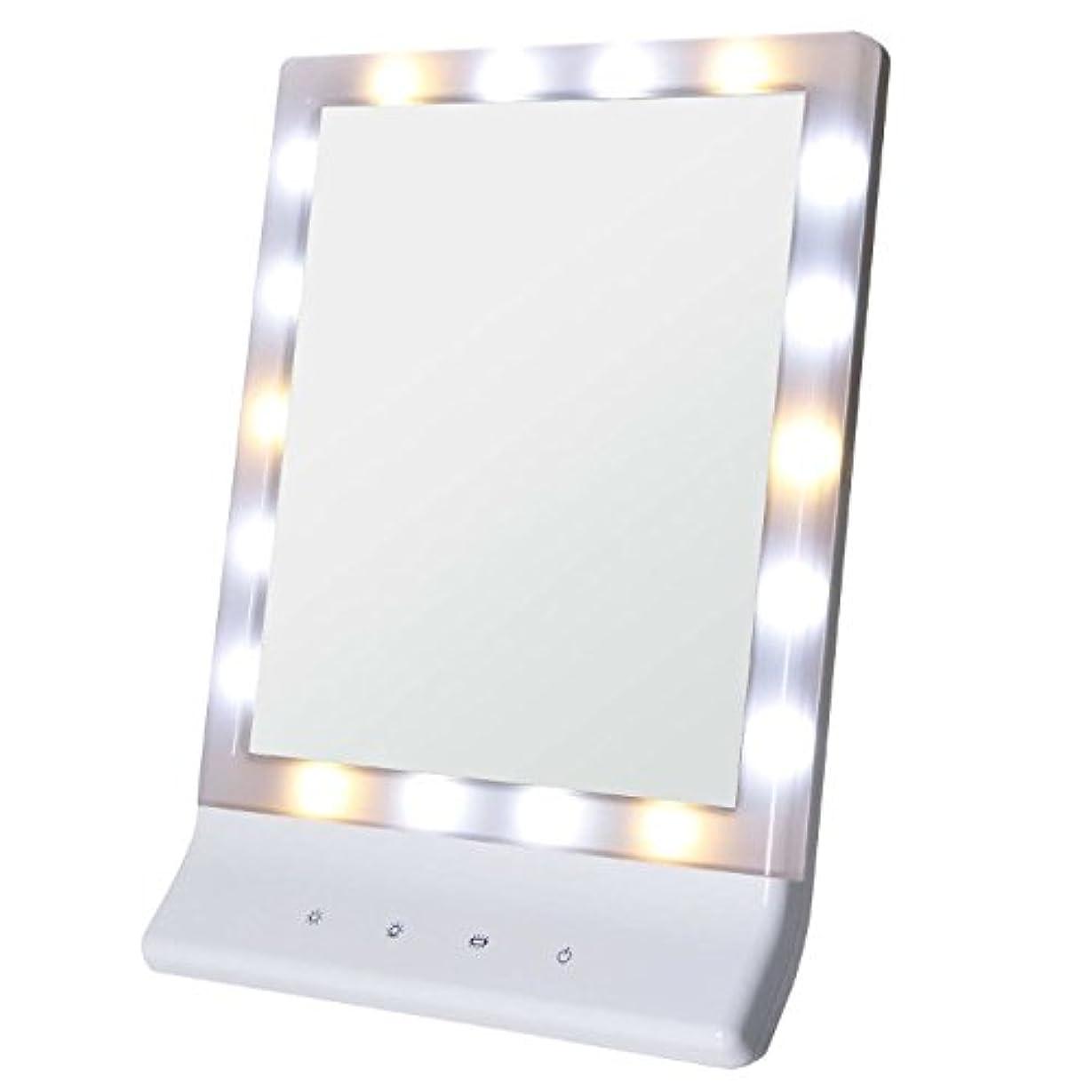 電話する貧困かかわらずSmaly LED化粧鏡 女優ミラー/お姫様ミラー 電池&USB 2way給電