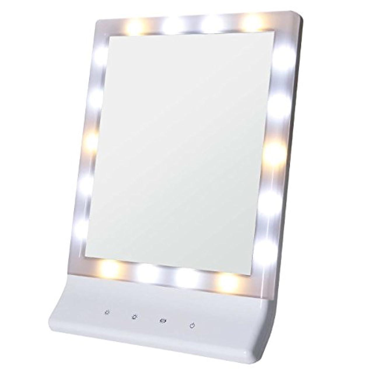 買い物に行くそばに復活Smaly LED化粧鏡 女優ミラー/お姫様ミラー 電池&USB 2way給電