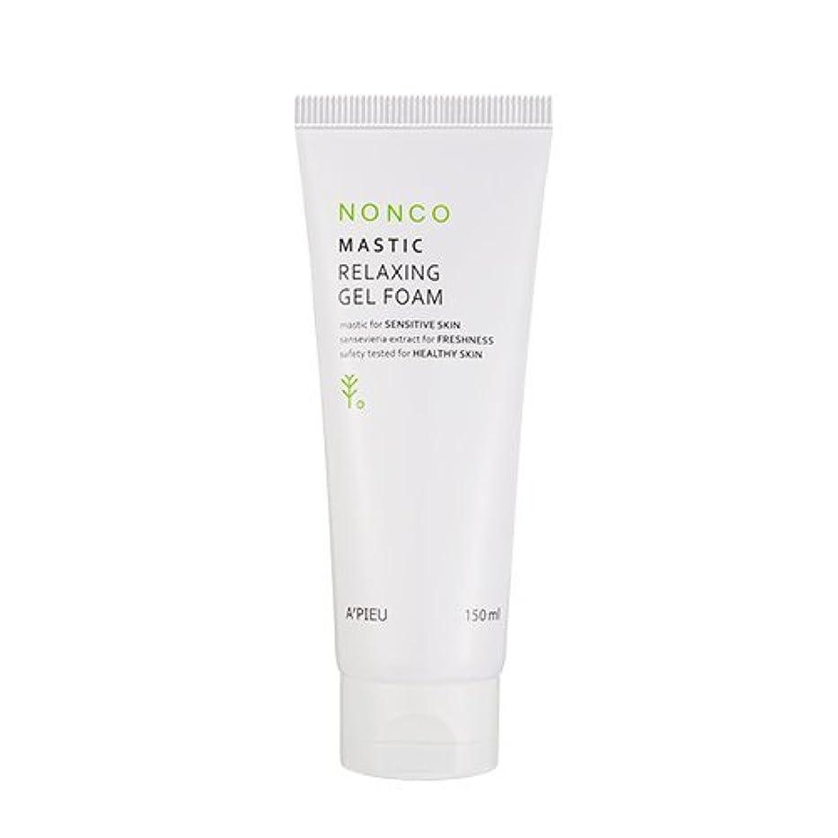 無力痴漢原油Apieu NanCo Mastic Relaxing Gel Foam 150ml [アピュ/オピュ] NonCo マスチック弱酸性ゲルフォーム 150ml [並行輸入品]