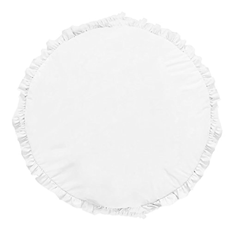 Perfk キッズプレイマット カーペット クロールマット ラグ 水洗い可能 2色選べる - ホワイト