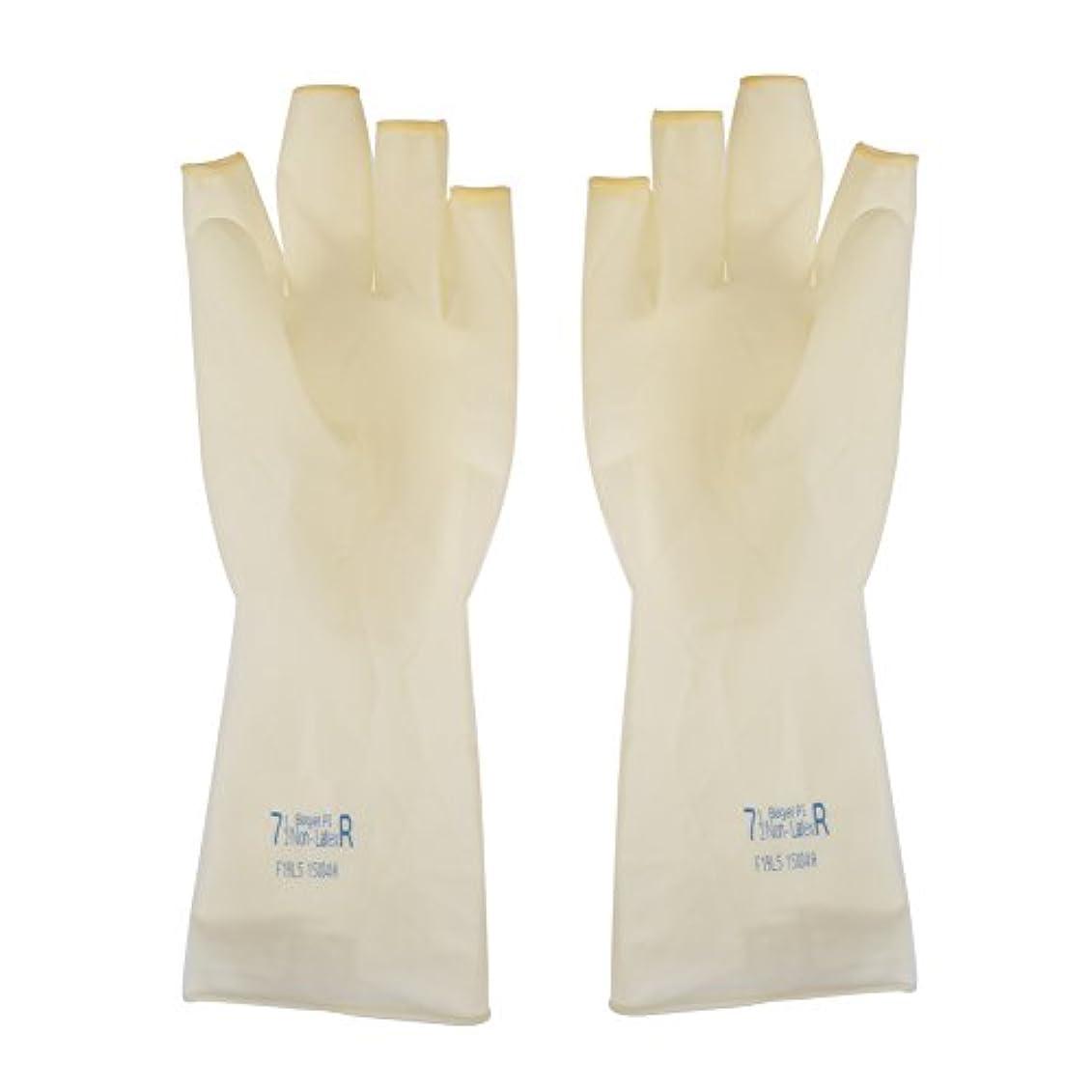 AEdiea 1ペア ゴム手袋   毛染め手袋 使い捨て 弾性 伸縮性 ヘアサロン サロンツール (M)