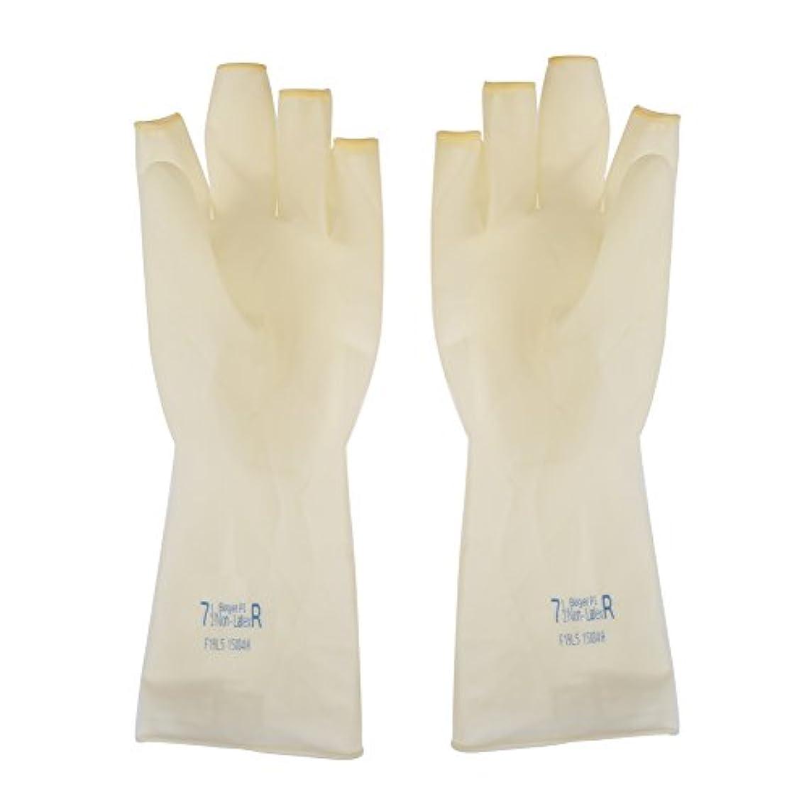 物理乳白色結論AEdiea 1ペア ゴム手袋   毛染め手袋 使い捨て 弾性 伸縮性 ヘアサロン サロンツール (M)