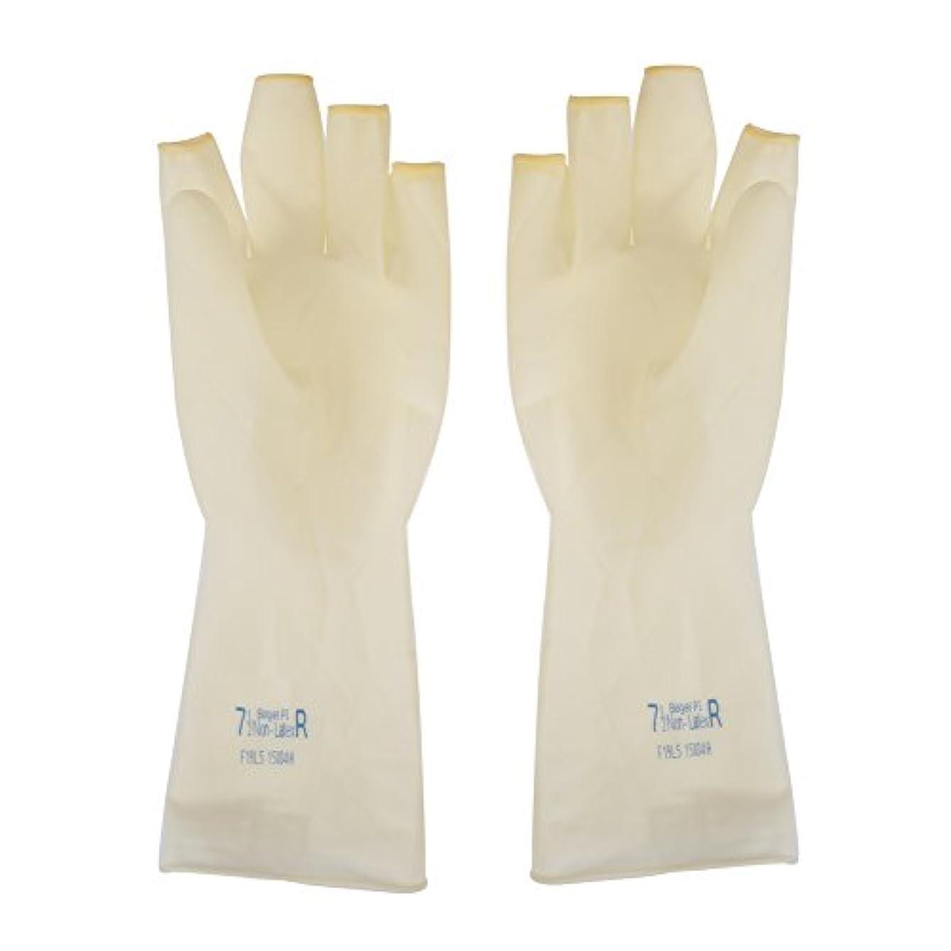 修道院ステップ本物のAEdiea 1ペア ゴム手袋   毛染め手袋 使い捨て 弾性 伸縮性 ヘアサロン サロンツール (M)