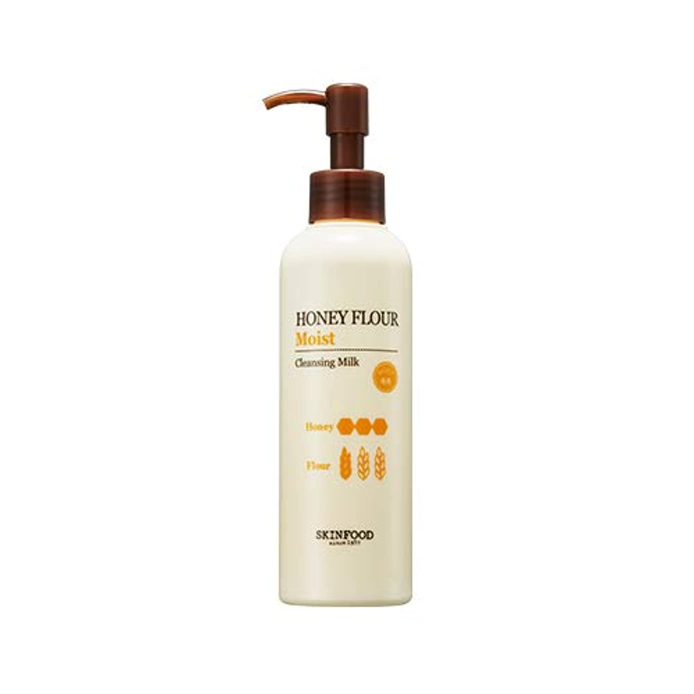 メータークッション切手Skinfood/Honey Flour Moist Cleansing Milk/ハニー小麦しっとりクレンジングミルク/200ml [並行輸入品]