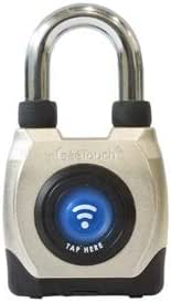 eGeeTouch イージータッチ 南京錠 防水 スマートパッドロック [NFC Bluetooth対応] 防犯 盗難防止 (ショートシャックル LG-GT2100-S)