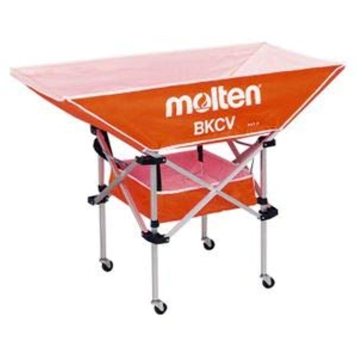 配送体操サドルモルテン(Molten) 折りたたみ式平型軽量ボールカゴ(背低) オレンジ BKCVLO