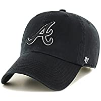 47 Brand リラックスフィット キャップ - MLB アトランタ・ブレーブス (Atlanta Braves) ブラック
