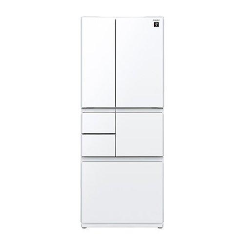 シャープ 冷蔵庫 メガフリーザー プラズマクラスター搭載 480Lタイプ ピュアホワイト SJGT48C-W