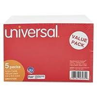 ルールドインデックスカード、4x 6、ホワイト、500/パックby :ユニバーサル