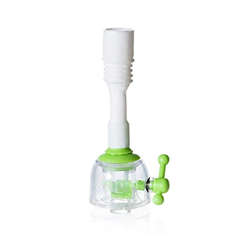 事前に全国歌家庭用調節可能な蛇口エクステンダー節水キッチンシャワースプラッシュノズルショートグリーン
