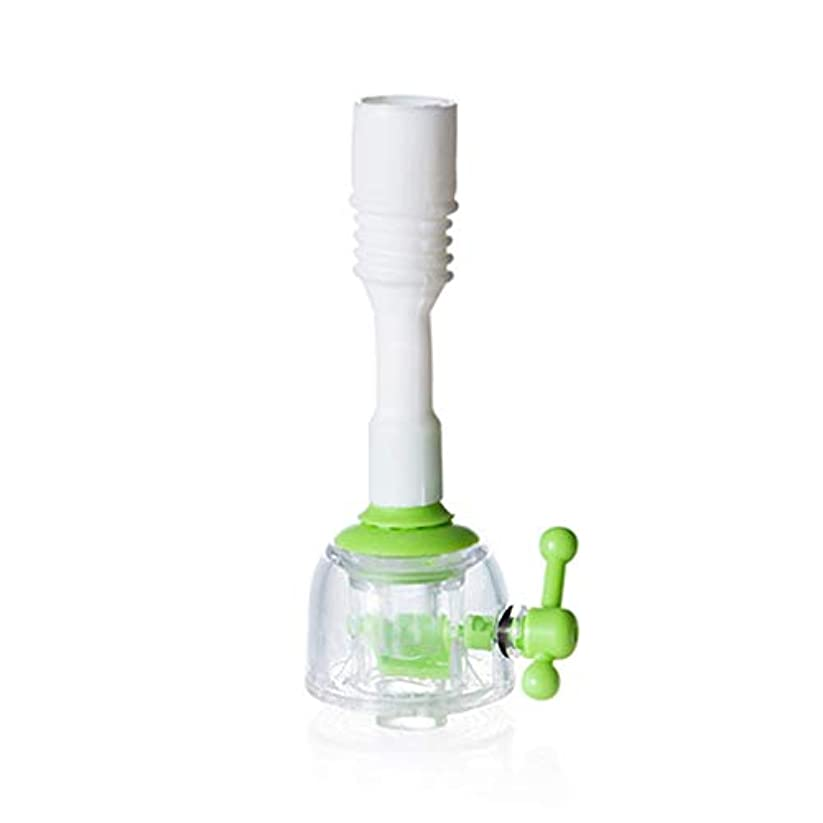 同級生皮肉な知り合いになる家庭用調節可能な蛇口エクステンダー節水キッチンシャワースプラッシュノズルショートグリーン