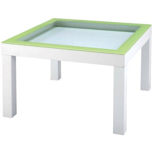 ローテーブル ガラス天板 見せる収納 ナチュラル テイスト チャオ テーブル NET-156GR