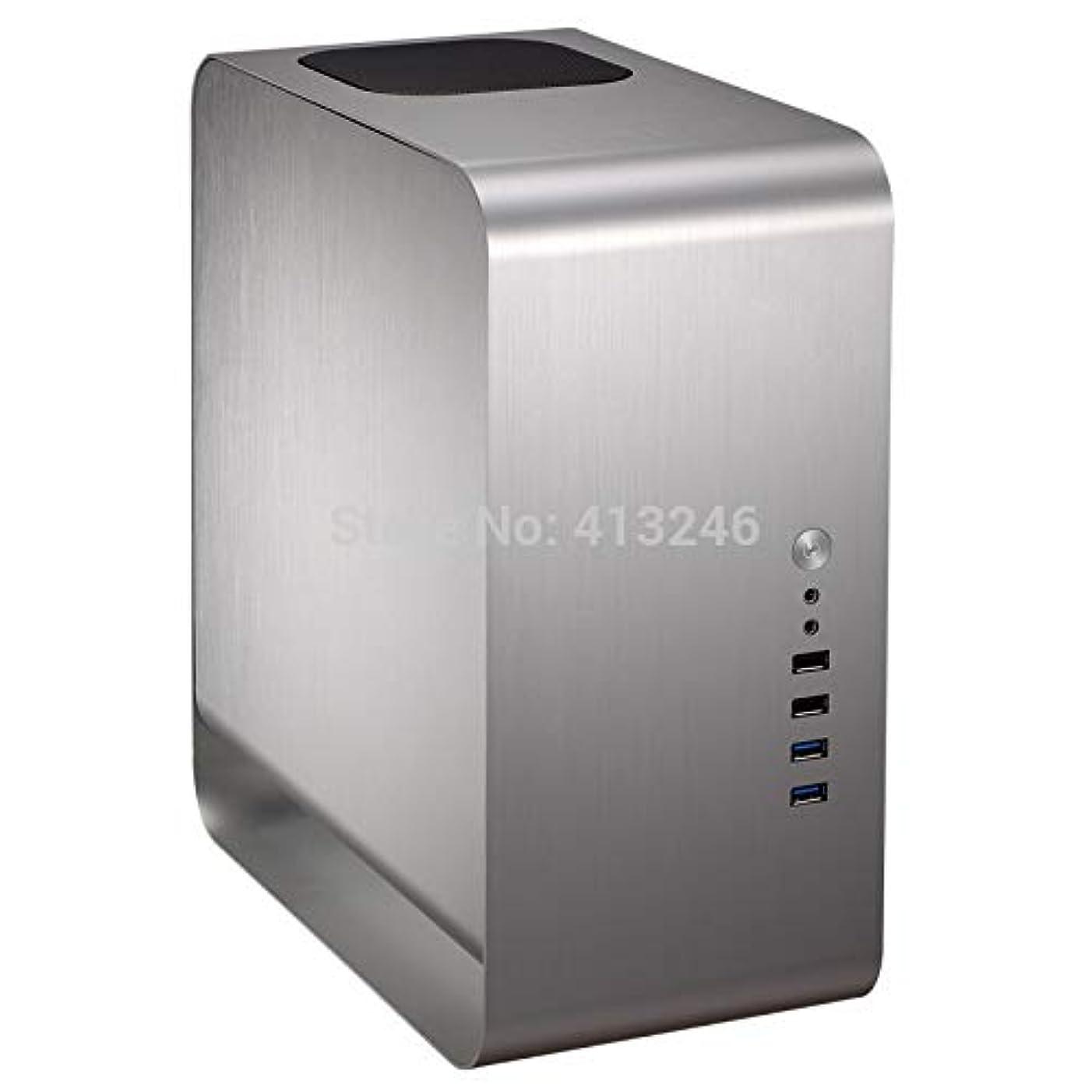 公園第二に進むjinshuyu システムキャビネット デスクトップ アルミニウムケース ミニ ITX htpc アルミニウム コンピューターケース usb3.0 ミュートサポート ビデオカード