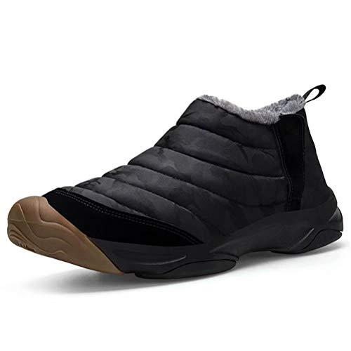 [ZanYeing] カモフラージュ ショートブーツ 防寒 サイドゴア メンズ スノーシューズ 防寒靴 レディース 防水 防滑 ウィンターシューズ つま先保護 裏起毛 迷彩柄 ムートン ブーツ 短靴 アウトドア 綿靴 23cm-28cm