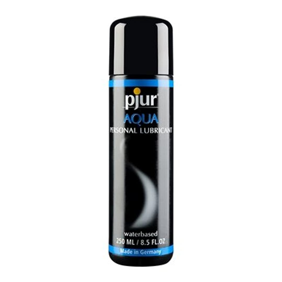苦悩怖がらせる紫のPjur Aqua Bottle Lubricant - 250ml