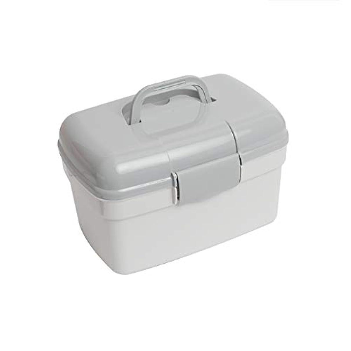 胆嚢エゴマニアもの家庭用多層医療キットポータブル応急処置キットプラスチック薬収納ボックス Ztoyby (Color : B)